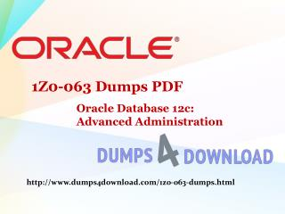 Free Oracle 1Z0-063 Exam Questions - Dumps4Download.com