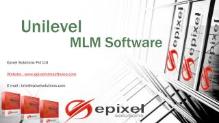 Unilevel MLM Software | Epixel Solutions