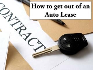How to get out of an Auto Lease