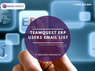 TeamQuest ERP Users Email List