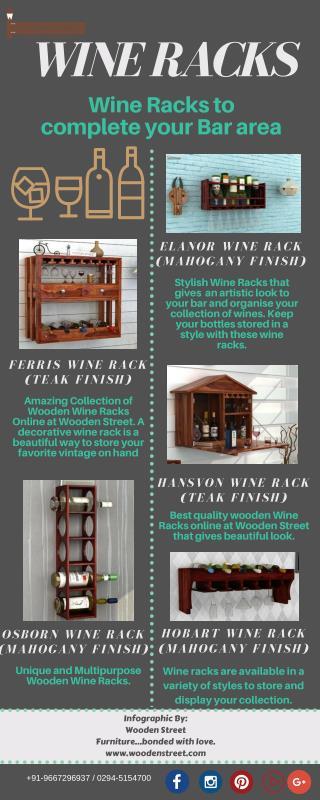 Wine Racks : Buy Wine Racks Online in India - Wooden Street
