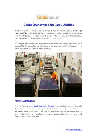 Getting Smarter with Solar Panels Adelaide