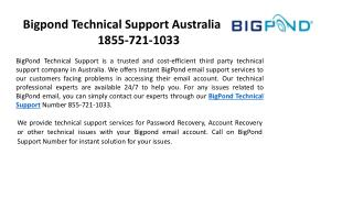 Bigpond Technical Support Australia