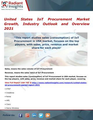 United States IoT Procurement Market Size and Growth, Research Report 2021