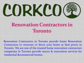 Renovation Contractors in Toronto