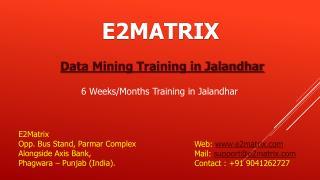 Data Mining Training Institute in Jalandhar