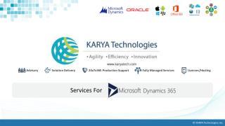 Microsoft Dynamics 365 - KARYA Technologies