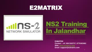 NS2 Training Institute in Jalandhar