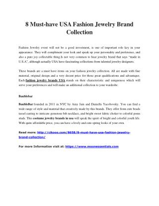 8 Must-have USA Fashion Jewelry Brand Collection