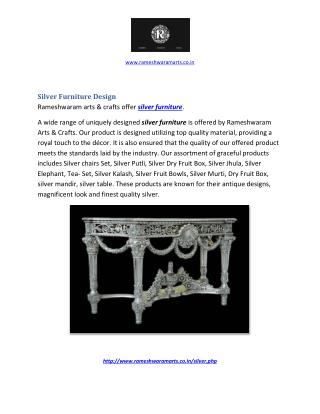 Silver Furniture Design