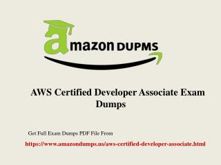 Buy AWS Certified Developer Associate Exam Dumps With 100% Passing Guarantee