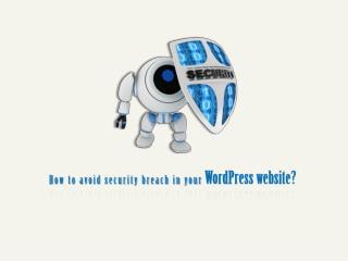 How to avoid security breach in your WordPress website?