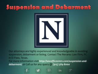 Suspension and Debarment
