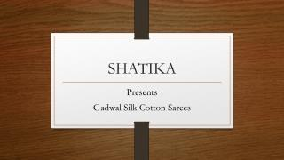 Gadwal Silk Cotton Sarees Collection