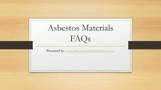 Asbestos FAQ - Asbestos Watch Brisbane