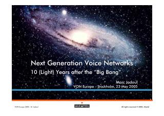 10 (Light) Years after the Big Bang (2005)