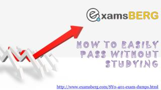 CompTIA SY0-401 Actual Exam Question Answers
