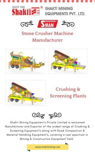 Stone Crusher Machine Manufacturer