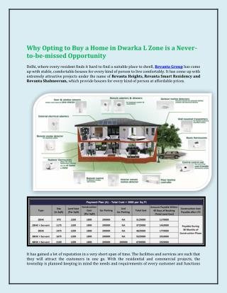Why Opting to Buy a Home in Dwarka L Zone is a Never-to-be-missed Opportunity.pdf