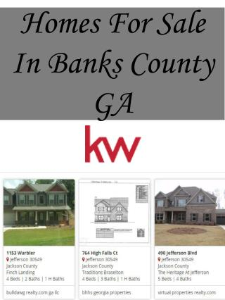 Homes For Sale In Banks County GA
