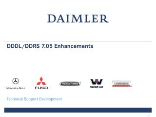 DDDL/DDRS 7.05 Enhancements