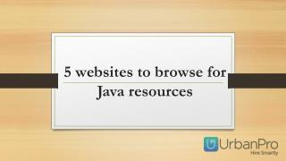 5 websites to browse for Java resources