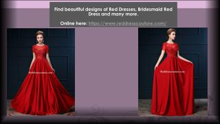 Shop Red Bridesmaid Dresses & Designer Red Gowns