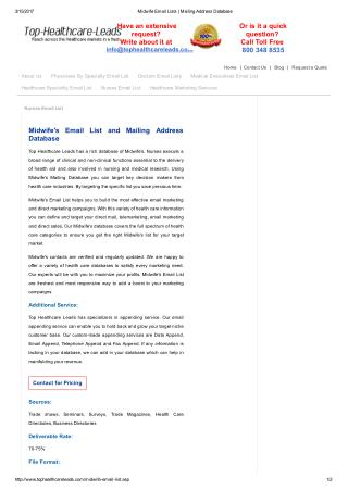 Midwives Mailing Database