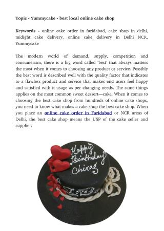 Yummycake - best local online cake shop