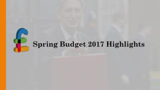 Spring Budget 2017 Highlights
