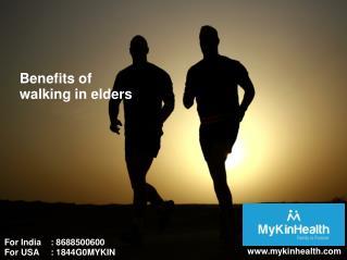 Walking is healthy for elders