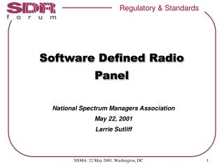 Software Defined Radio Panel
