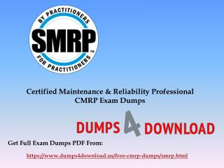 March Latest SMRP CMRP Exam Dumps Questions