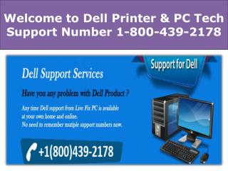 Dell Printer Tech Support Phone Number 1-800-439-2178