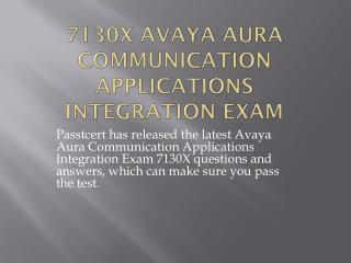 Passtcert Avaya 7130X Questions and answers pdf