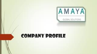Amaya Global Solutions Company Profile