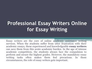 Essay Writers - Hire Best Essay Writer only from EssayGator.com