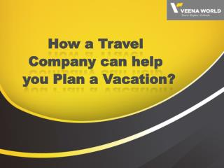 How a Travel Company can help you Plan a Vacation?