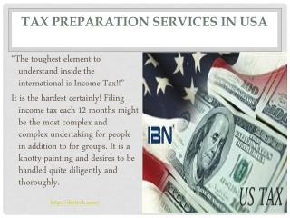 Tax preparation services in USA