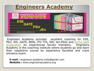 Online Engineers Academy: Provides Mock Test for GATE