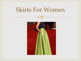 Skirts For Women At Best Prices In India