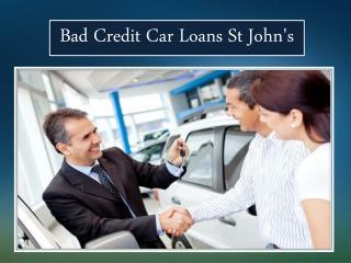 Bad Credit Car Loans St John's