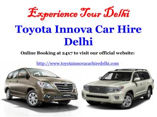 Toyota Innova car hire Delhi, Book online Innova car on Rent