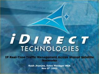 IP Real-Time Traffic Management Across Shared Satellite Networks