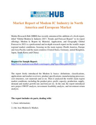 Market Report of Modem IC Industry in North America and European Market