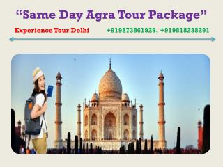 Same day Tour Package from Delhi to Agra by car