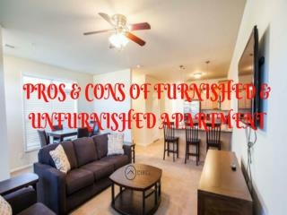 Pros and Cons of Furnished & Unfurnished Apartment