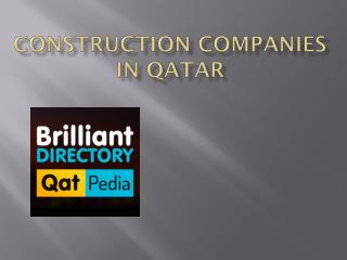 Construction Companies in Qatar