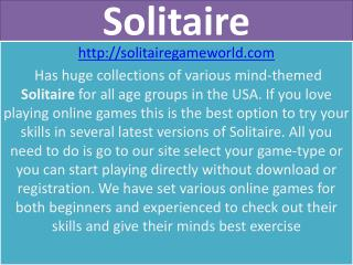 Play Solitaire Card Games (Klondike) 100% free.