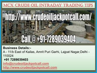 MCX Crude Oil Intraday Trading Tips
